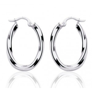 boucles d 39 oreilles argent cr oles torsadees pour femme. Black Bedroom Furniture Sets. Home Design Ideas