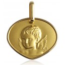 "Medaille or jaune 18 carats ""ange"""
